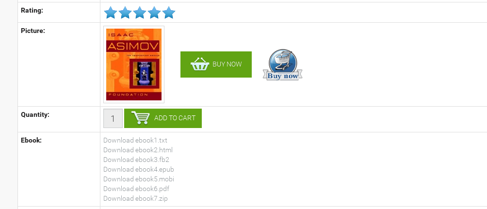 eBooks view in the frontend, joomla library extension