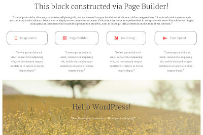 Responsive Page Builder for Free WordPress Theme
