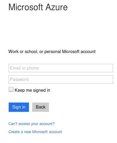 Register or log in Azure Account