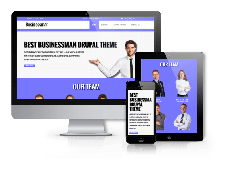 Businessman - Free Corporate Drupal theme