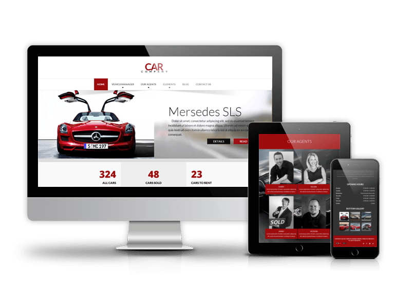 Best Drupal Car Dealer theme 2015 from OrdaSoft - Car Company