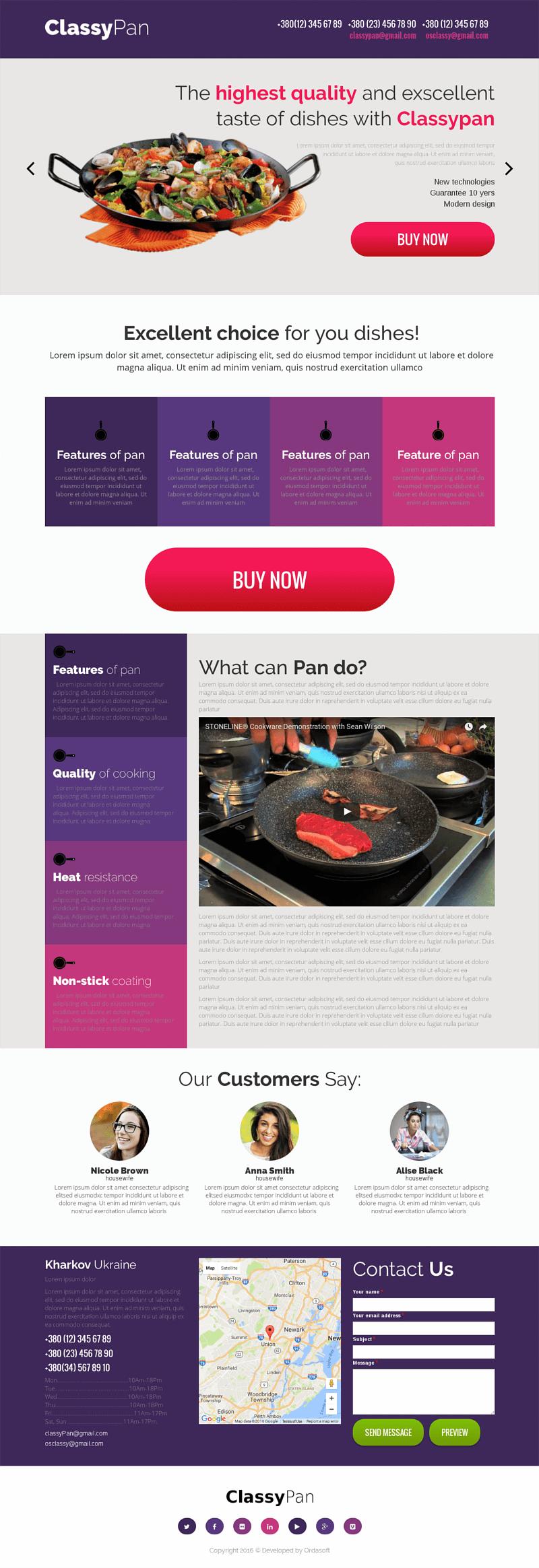 Classy Pan - Drupal 8 Landing page | Drupal Business themes ...