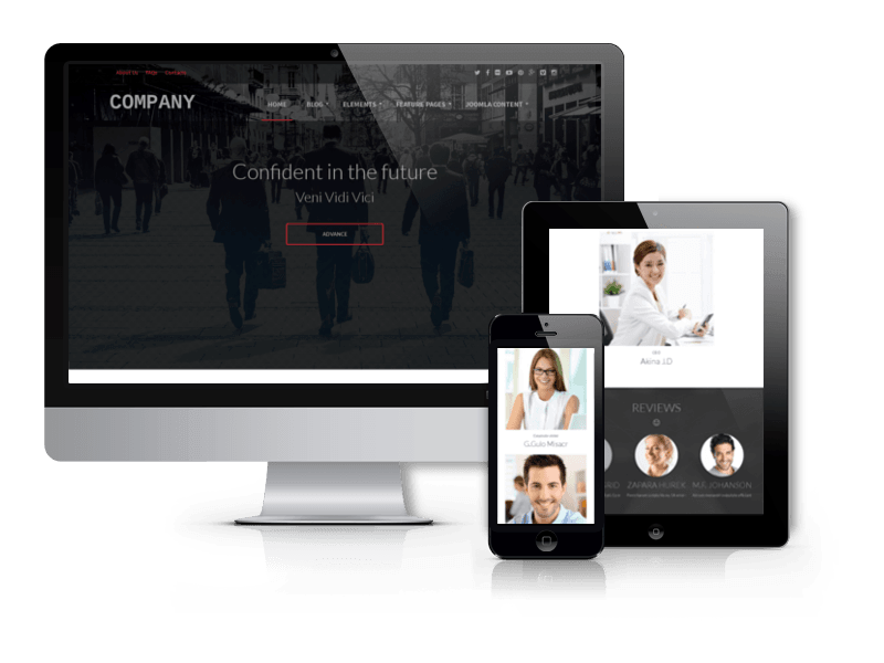 Business Joomla template Company