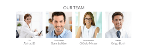 Team in Drupal business theme