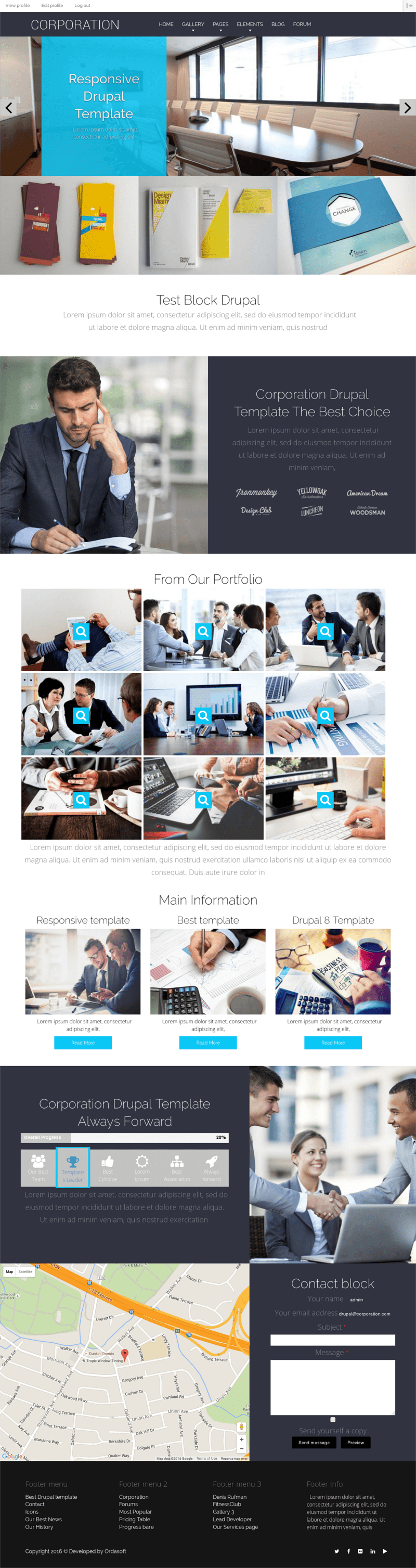 Corporation, Drupal Business Theme