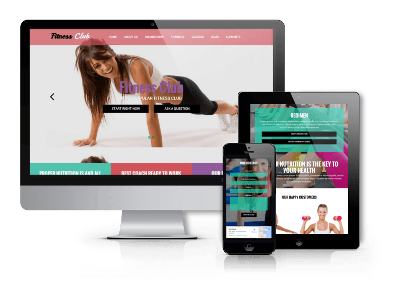 Best Sport Drupal Theme 2015 from OrdaSoft - Fitness Club