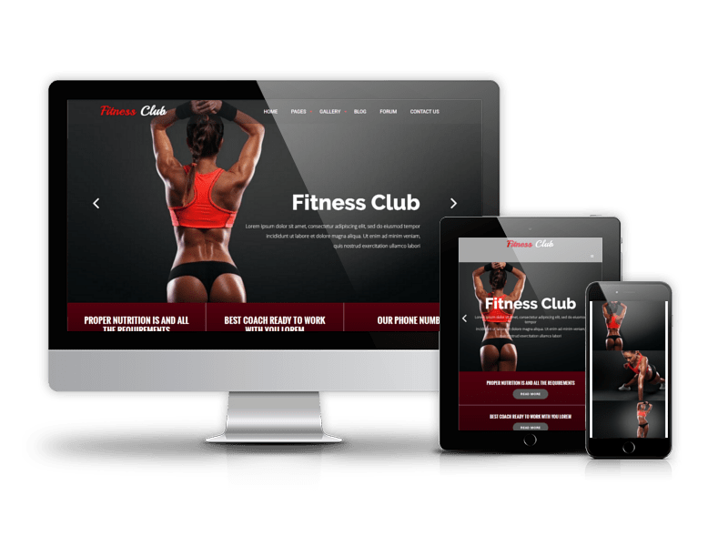 Sport Drupal Theme Fitness Club