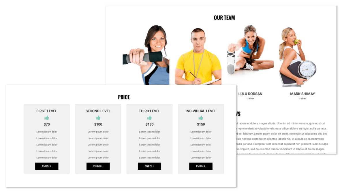 Pricing tables in Drupal theme