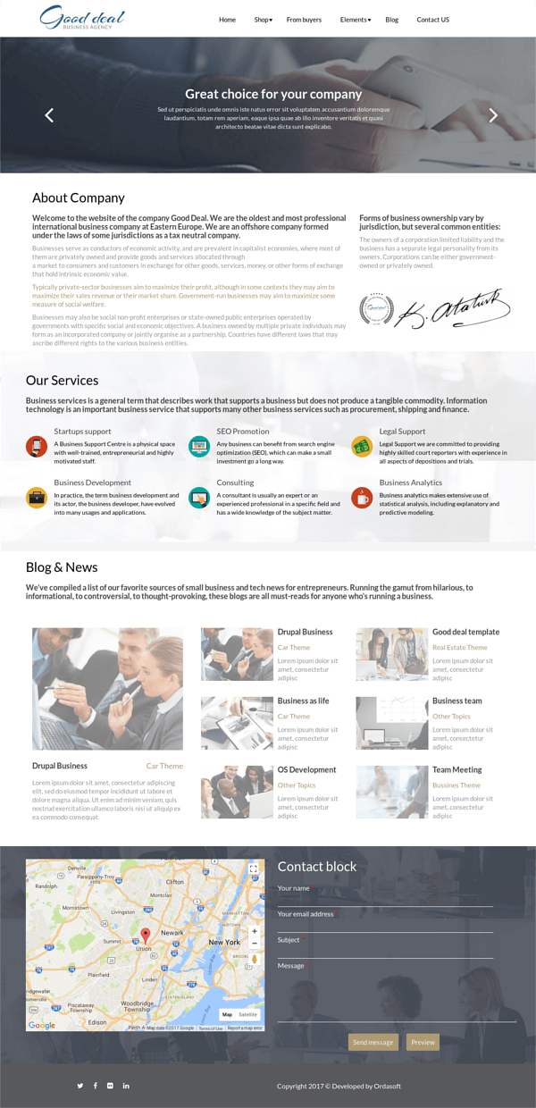 Good deal, Business Drupal template