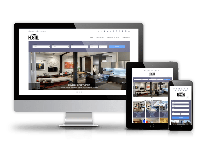 Free Drupal Real Estate Theme Hostel