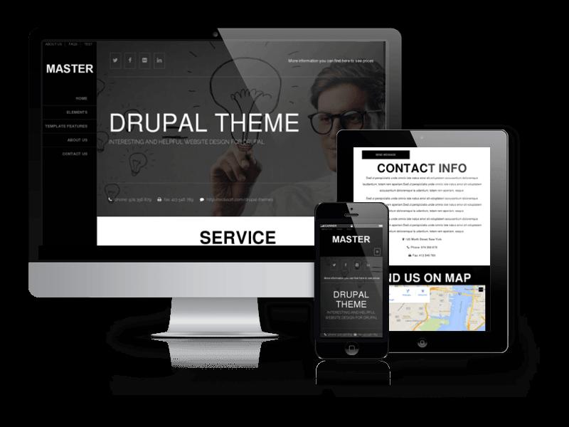 Free Drupal Responsive Theme Master