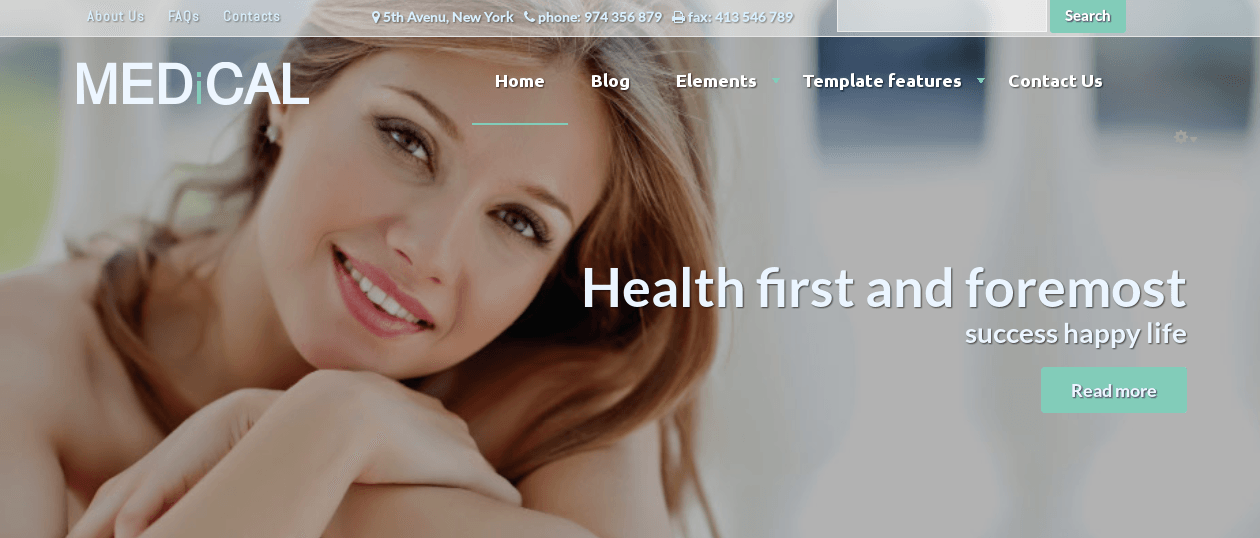 Slideshow in Healthcare Drupal theme Medical