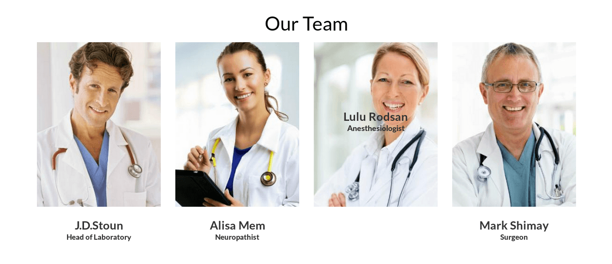 Team in Healthcare Drupal theme Medical