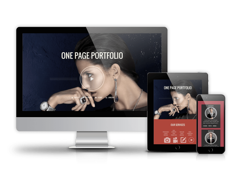 One page Drupal portfolio theme Photographer