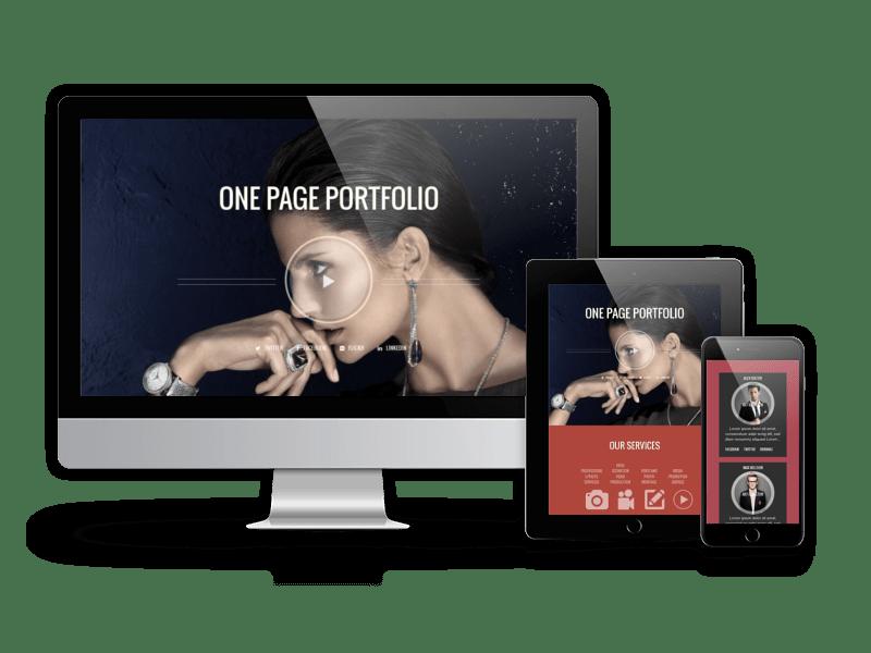 One Page Portfolio Theme