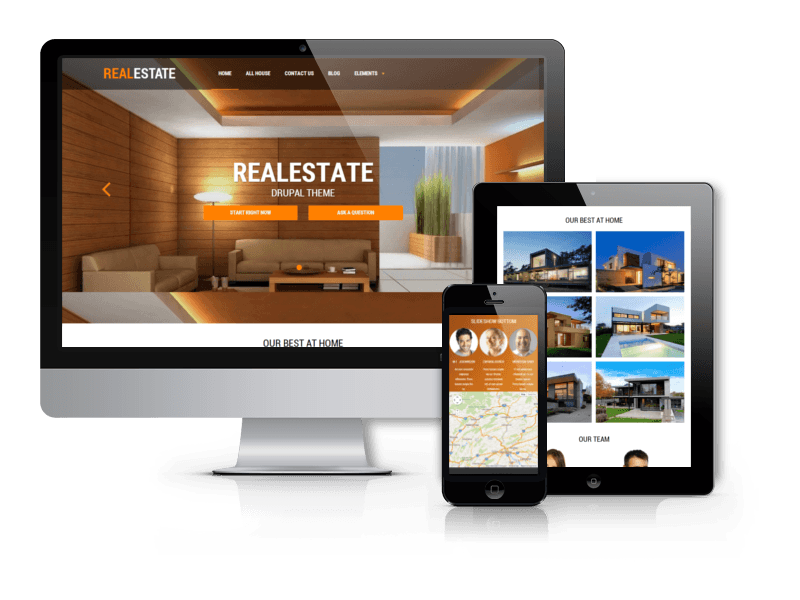 Real Estate, Responsive Drupal theme