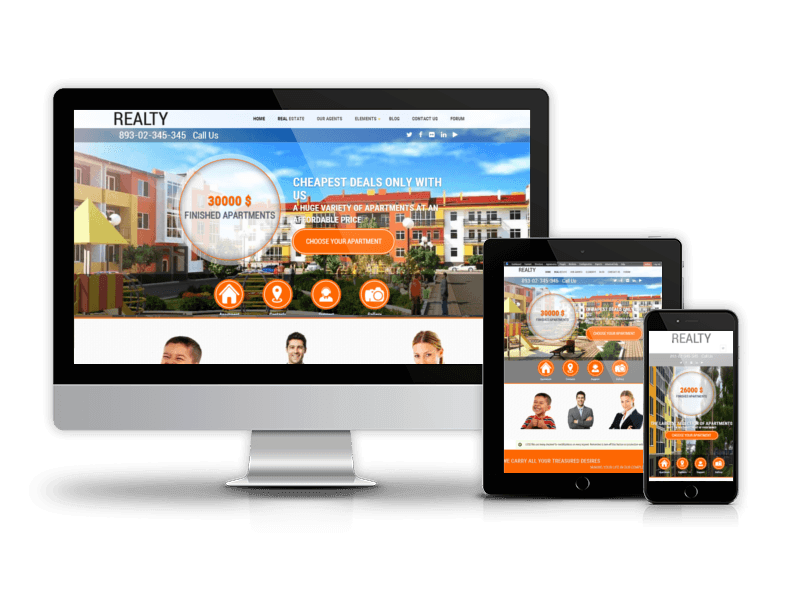 Best Drupal Real Estate Theme 2015 from OrdaSoft - Realty
