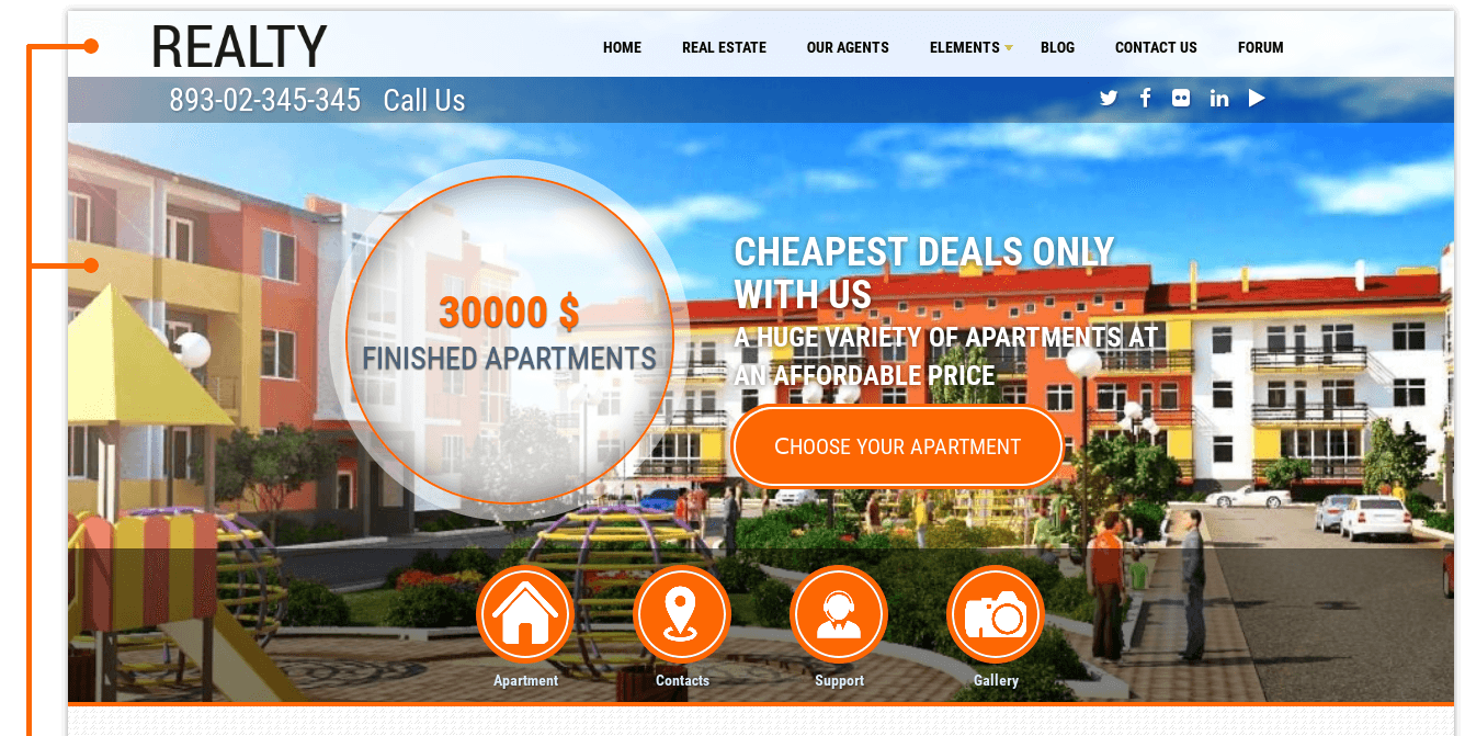 Realty - real estate drupal theme