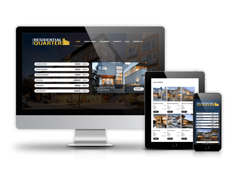Drupal Real Estate theme Residential Quarter