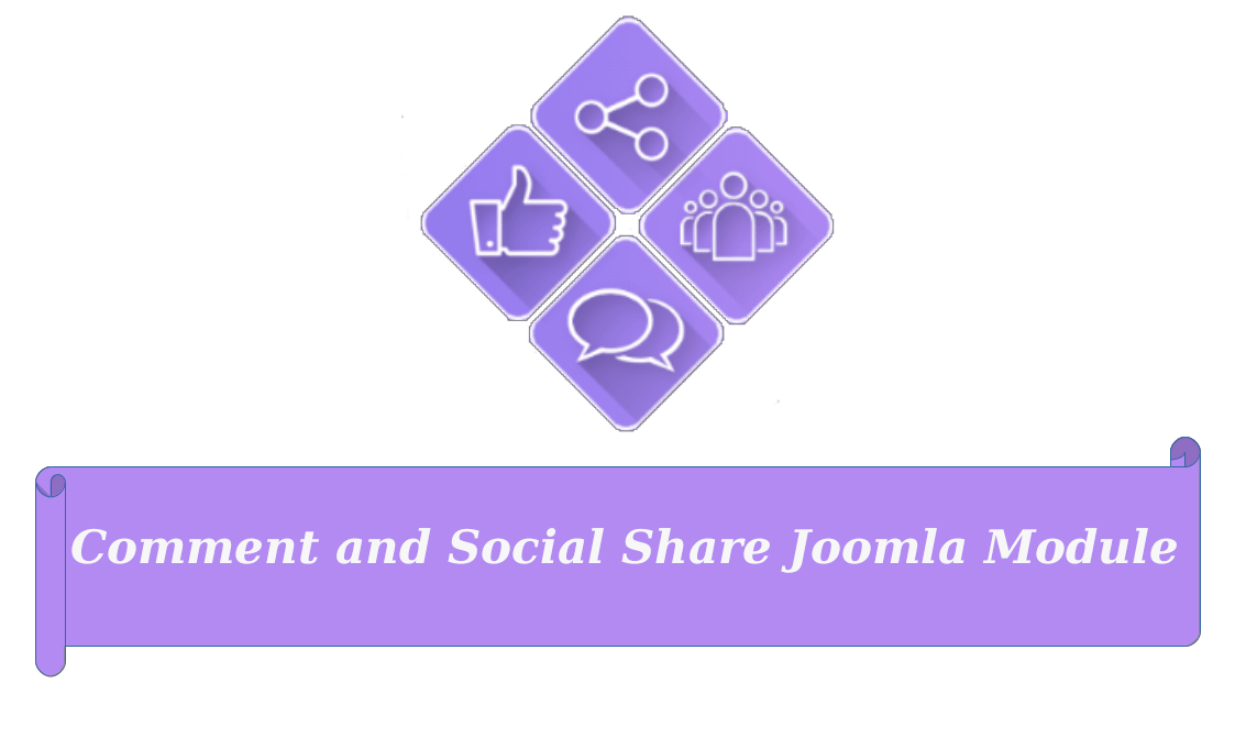 Comment and Social Share Joomla Module