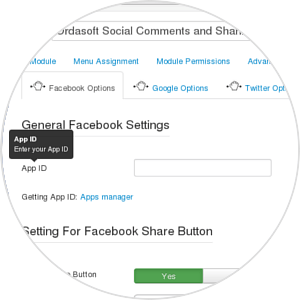 Facebook Application ID of Social extension(Facebook plugin)
