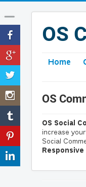 comment and social share joomla plugin with left layout