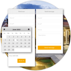 Booking and Buying realtors Request forms of rental property management software for create real estate website