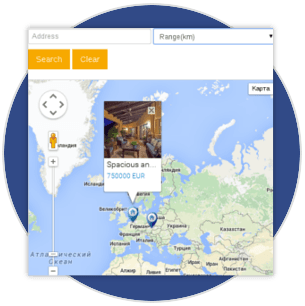 Google Maps integration in real estate property management software