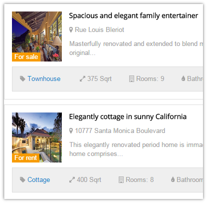 Joomla real estate module Featured for joomla property rental software