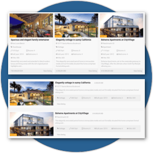 Plenty of Views and Layouts in real estate website software for create real estate website