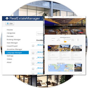 Backend and Frontend Management of property management software