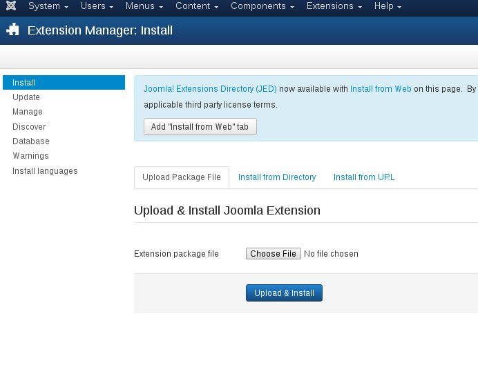 Joomla membership extension - installation