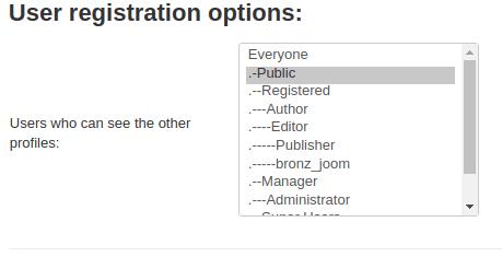 Joomla Membership set settings for users