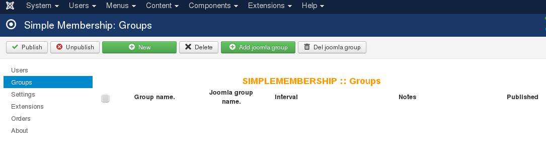 Simple Membership Groups
