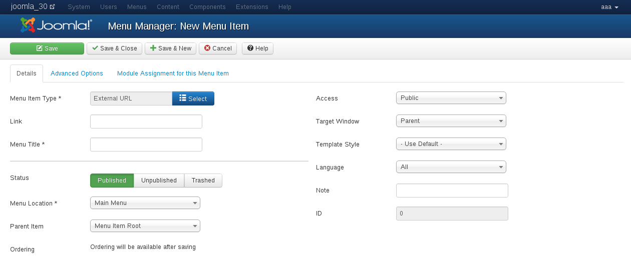 Create a base of search menu for Vehicle Manager - Joomla Car dealer software