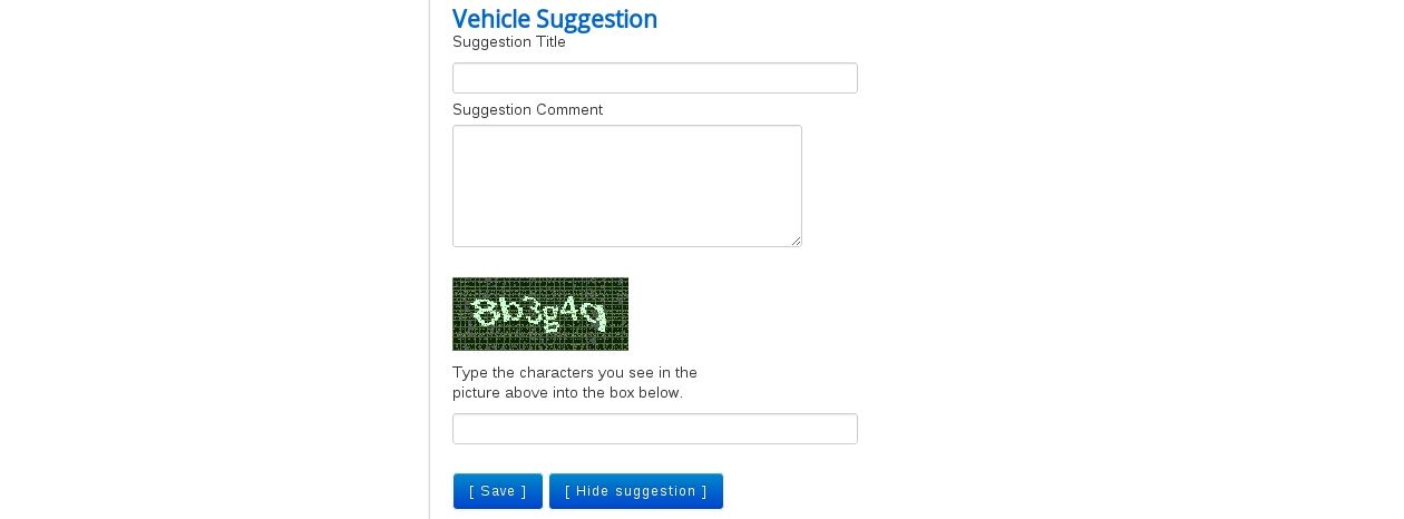 Frontend Vehicle List View in Vehicle manager