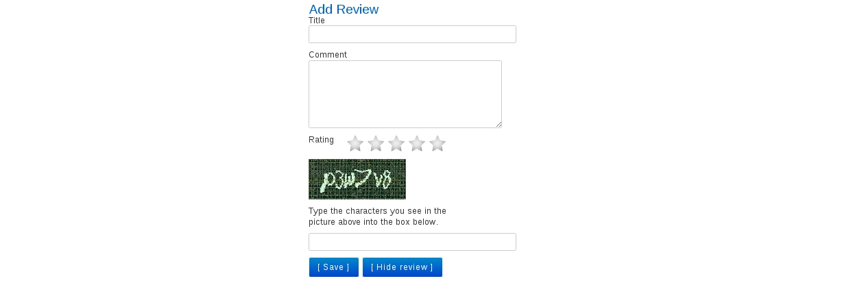 Add Review button