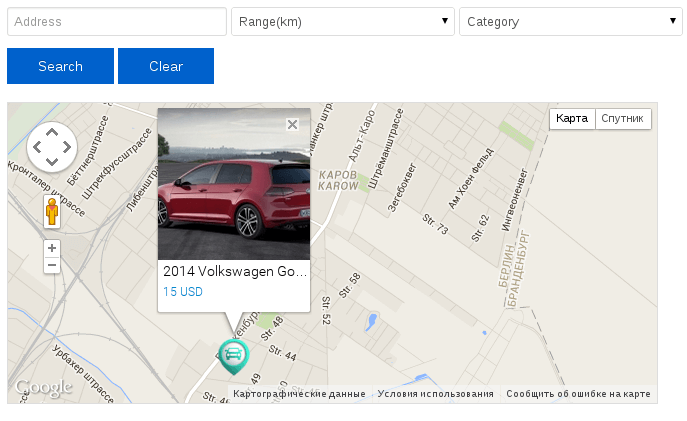 Vehicle Manager: New Location Map module with search