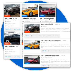 Variety of Pre-Designed Layouts in Car rental dealer software