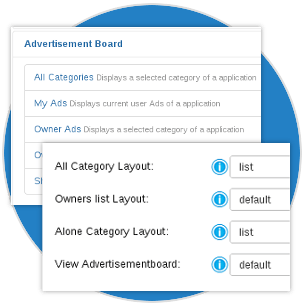 Layouts and Menu Items in Joomla classifieds software