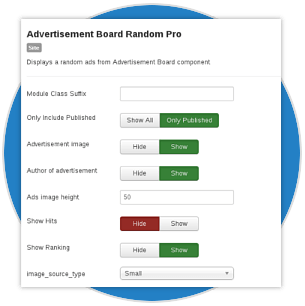 Variety of Additional Modules for Advertisement Board Joomla extension