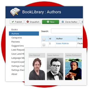 Authors Management in Book Library - best eBook management software for library management