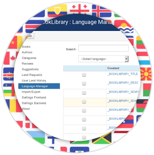 Language pack in Book Library - Joomla book library component (extension)
