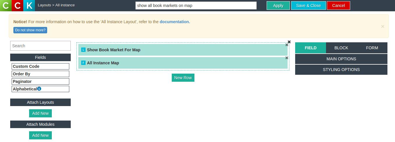 add attach layout, Website builder - Joomla CCK