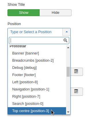 select menu item