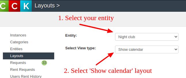 Create Joomla Calendar layout