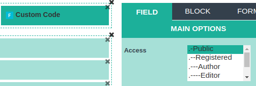 cck access settings for field