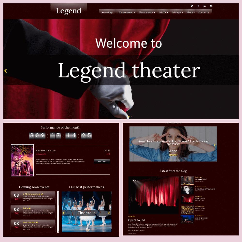 Legend Joomla Event Template build on Content Construction Kit-Joomla website builder