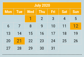 site builder joomla calendar without regard to the year