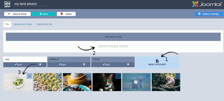 joomla gallery categories
